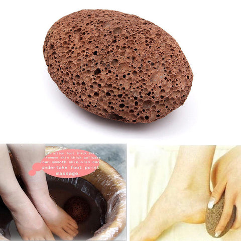 Natural Paddle Cushion Massage Brush Earth Lava Pumice Stone Remove Dead Skin Foot Massage SPA M02267