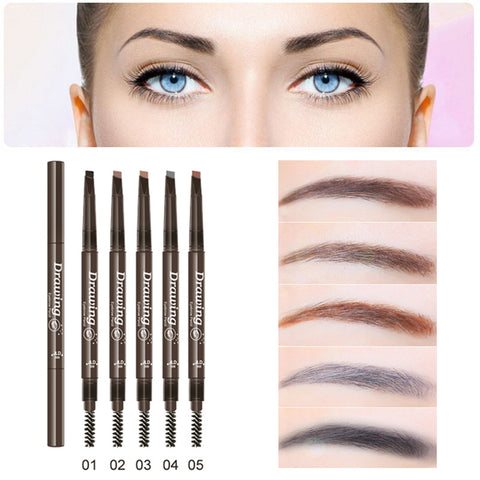 Professional Eyes Makeup Cosmetic Waterproof Long Lasting Natural Black Brown Eyebrow Shaping Colored Pencils With Mascaras