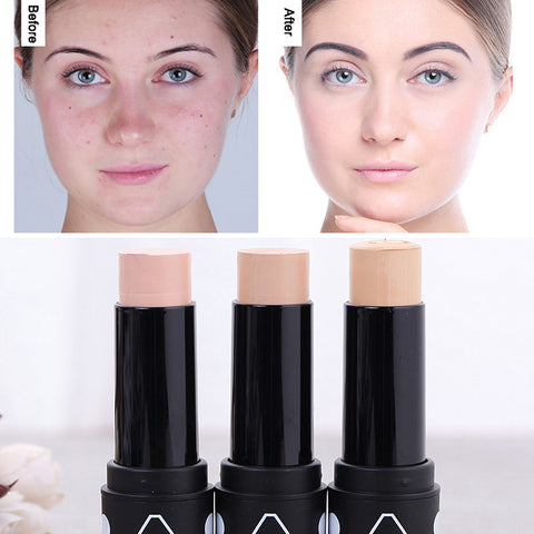 Face Foundation Concealer Contouring Makeup 3 Color Waterproof Long-lasting Base Eye Face Lips Contour Concealer Stick