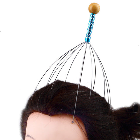 Hot Selling 1pc free shipping Octopus Head Scalp Neck Equipment Stress Release Relax Massage Claw Massager