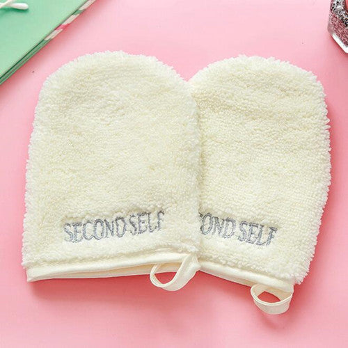 2Pcs/1 Pair/lot Beige Color Cute Size Makeup Remover Glove Portable Than Makeup remove Towel and Face Make Up Remove Product