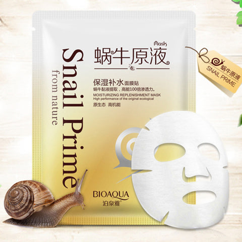 BIOAQUA Snail Mask Moisturizing Face Mask Oil Control Shrink Pores Facial Masks Snail Dope Mask Paste Skin Care