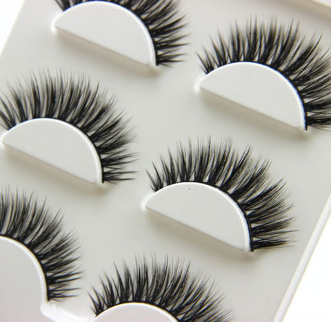 3Pairs Natural Long 3D False Eyelashes Makeup Handmade Thick Fake Eye Lashes Extension Tools