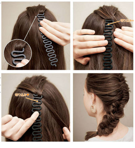 #AD17036 French Braiding Tools Magic Hair Clip Braider Stylist Queue Twist Plait Hair Braid DIY  Hairstyle Styling Accessories