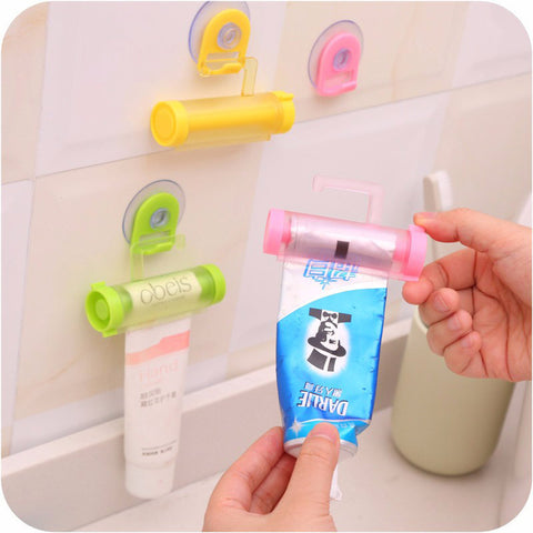 5 Colors Plastic Rolling Tube Squeezer Toothpaste Dispenser Bathroom Toothpaste Holder Baby Care Grooming & Healthcare Kits