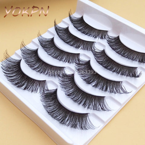 YOKPN K16 Exaggerated Thick False Eyelashes Stagecraft Cross Black Makeup Long Fake Eye Lashes