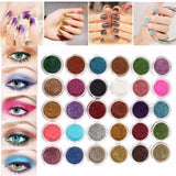 30Pcs/Set Hot Sale New Beauty 30 Mixed Colors Eyeshadow Powder Pigment Glitter Mineral Spangle Nail Makeup One Set Maquiagem