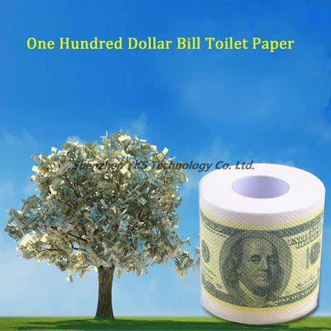 Fashion One Hundred Dollar Bill Toilet Paper Novelty Fun $100 TP Money Roll Gag Gift Beauty & Health Sanitary Paper