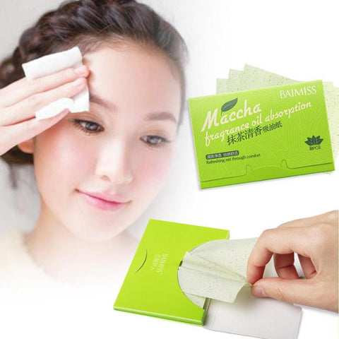 80 pcs/Pack Facial Tissue Face Oil Absorbing Paper Face Maquiagem Powerful Makeup Cleaning Sanitary Paper Y1-5