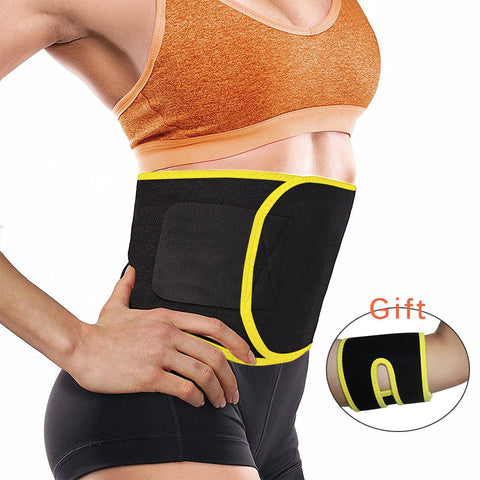Adjustable Waist Trimmer 5mm Thickness Sweat Belt Shaper Slimming Wraps Perfect for Exercise Belly Weight Loss And Extra Gift
