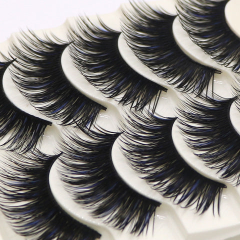 5 Pairs Handmade False Eye Lashes Thick False Eyelashes Makeup Tips Cosmetics Natural Long Fake Lashes Extension Cilios Posticos