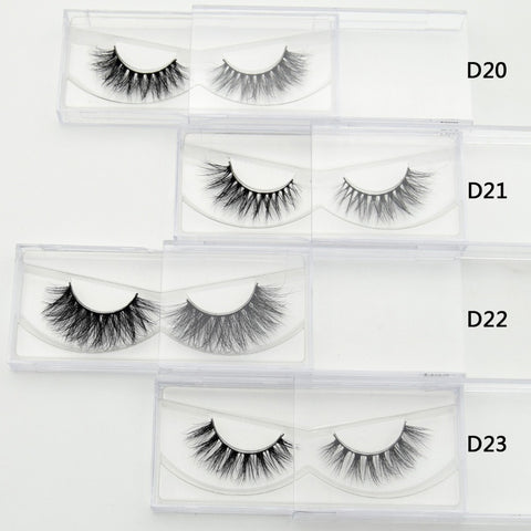 Focallure 1 pair 3D Mink Eyelash  Real Mink Handmade Crossing Lashes Individual Strip Thick Lash Fake Eyelashes Makeup Beauty