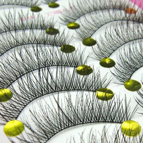 10Pair Natural False Eyelashes Long Thick Fake Eye Lashes Extension Big Eyes Makeup Tools Individual Eyelashes Eye Lashes Makeup