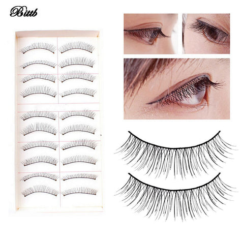 Bittb 30Pack Hand Made Black False Eyelash Natural Eye Lashes Extensions Eyes Curl Charming Makeup Tool Beauty False Eyelashes