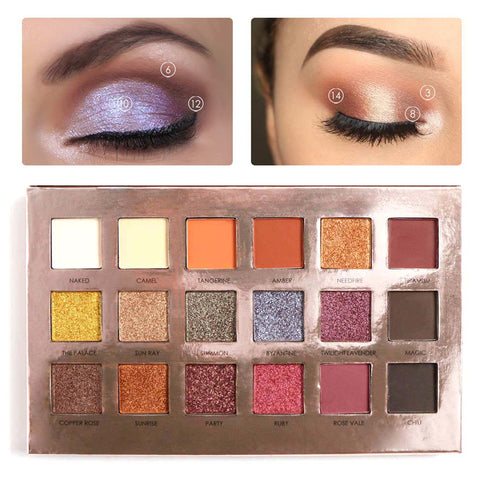 New Makeup 2017 Branded Eye Palette Mineral Powder Pigment Shimmer Matte 18 Color Professional Focallure Eyeshadow Palette