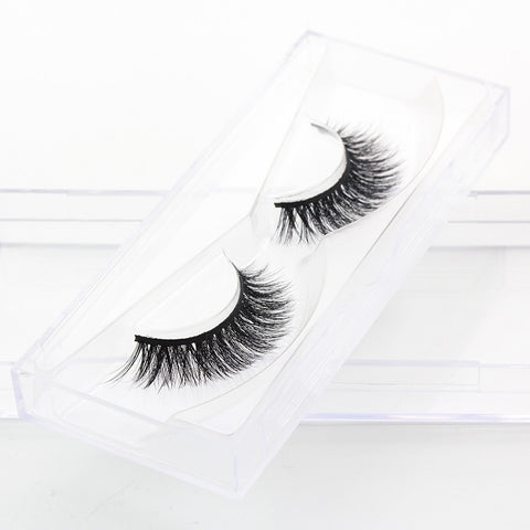 HUAMIANLI 1PairLashes False Eyelashes Natural Makeup 3d Mink Lashes Eyelash Extension Make Up real siberian mink strip eyelashes