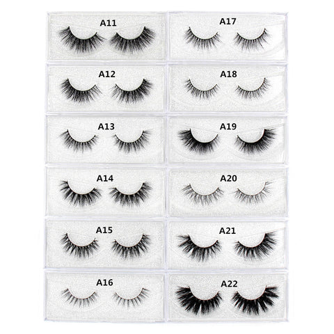 3D Mink hair Eyelash Natural and volume False Eyelashes Long Crisscross Eyelashes cruelty free Makeup thick Full Strip Lashes
