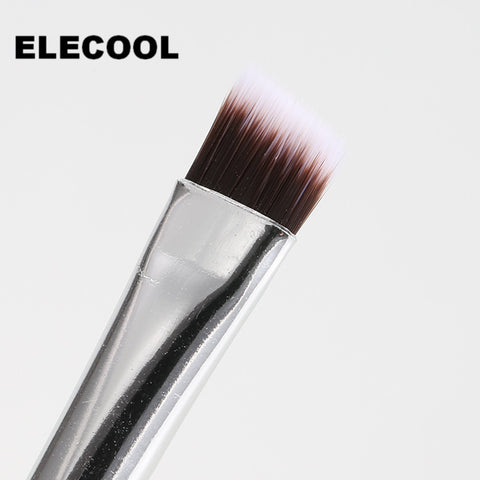 ELECOOL 1PC Eyebrow Eyeshadow Brush Elite Angled Wooden Handle Eye Liner Eye Brow Brush Tool For Lady Cosmetic Brush