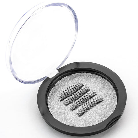 Shozy 2 pieces Magnet Eyelashes Handmade Magnetic Lashes 6D 4 Pcs/1 Pair Fake Eyelashes extension with Gift Box-CT03-SY