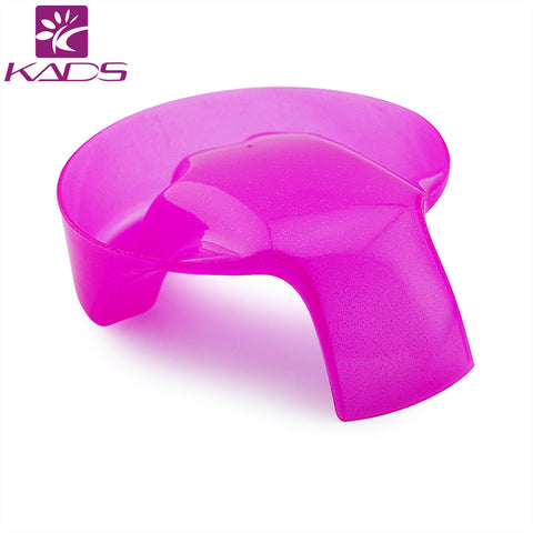 KADS 1pc Nail Art Hand Wash Remover Soak Bowl DIY Salon Glitter Nail Spa Bath Treatment Hand Resurrection Care Bowl Pink & White