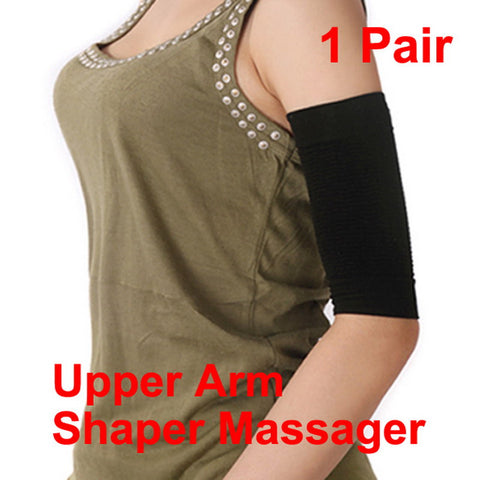 Women Arm Shaper Weight Loss Calories off Slim Slimming Arm Massager Shaper Lose Fat Buster Black GUB#
