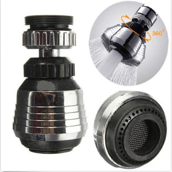 360 Degree Water Bubbler Swivel Head Saving Tap Faucet Connector Diffuser Nozzle Filter Mesh Adapter Bathing Accessories CT0004