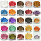 42 Colors Mixed  Healthy Natural Mineral Mica Powder DIY For Soap Dye Soap Colorant makeup 1 Lot =5g/10g*42 colors =210g/420g