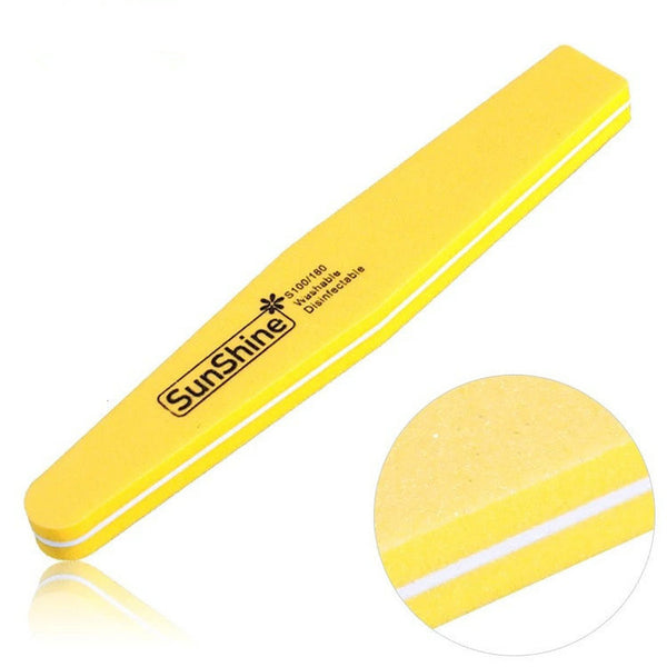 3 Pcs/lot Double Side 100/180 High Quality Nail File Buffer Washable Manicure Tool ZX:NF01