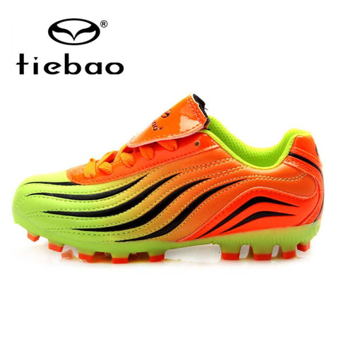 TIEBAO Professional Outdoor Soccer Shoes Teenagers Training Soccer Cleats Breathable Children Kids HG & AG Sole Football Boots