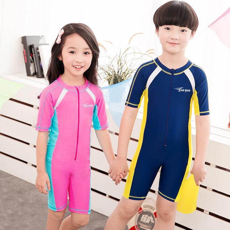 Child Swimwear One Piece Boys Girls Swimsuits Kids Bathing Suits