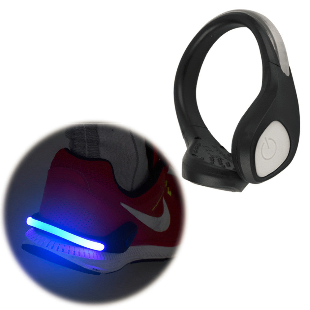 Bright Luminous LED Shoe bike Light Clip Warning Lamp fits Night