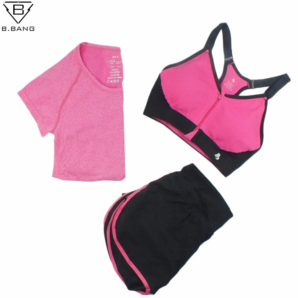 B.BANG 2016 Women Sport Yoga Set for Running Gym Sportswear Suit for
