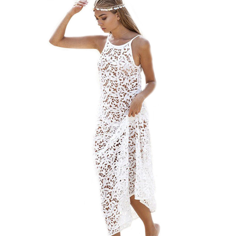 XXL Summer Crochet Bikini Swimwear Cover Ups Beachwear Dress Bathing