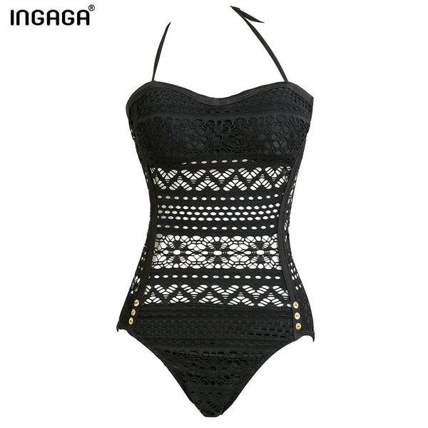 INGAGA Brand New Swimwear 2016 Hollow Out Strap One Piece Swimsuits Sexy Swim monokini Bathing Suits Beachwear