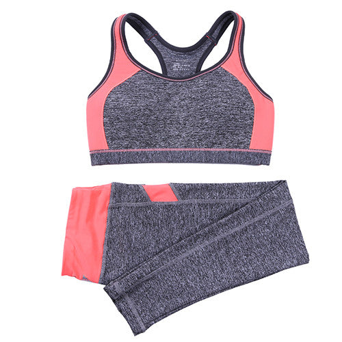 B.BANG Women Sport Yoga Sets for Running Gym Sportwear Sports Top