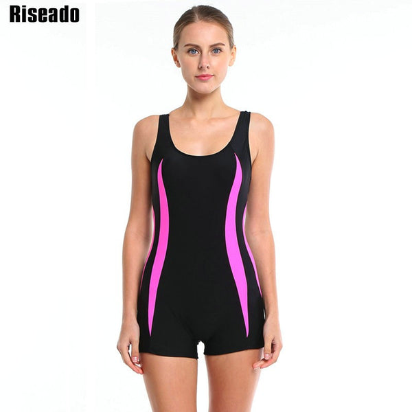 Riseado 2016 Brand Women One Piece Swimsuit Sport Swimwear Straight Backless maillot de bain Beach Bathing Suits