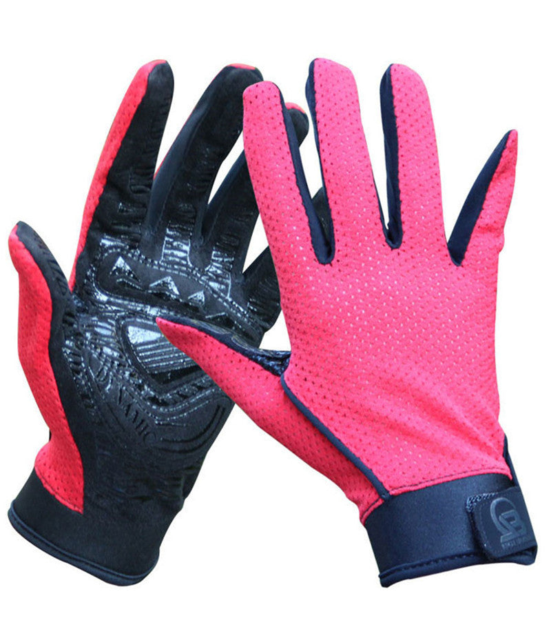 Breathable Summer Outdoor Full Finger Fitness,Hiking Glove for
