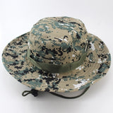 Outdoor Sports Fishing Hat Camouflage Bucket Hat Fisherman Camo Jungle Bush Hats Boonie UV Protection Wide Brim Sun Caps Ripstop