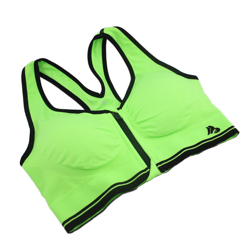 B.BANG New Sport Shirt Women Sports Yoga Bras Shockproof Zipped Padded