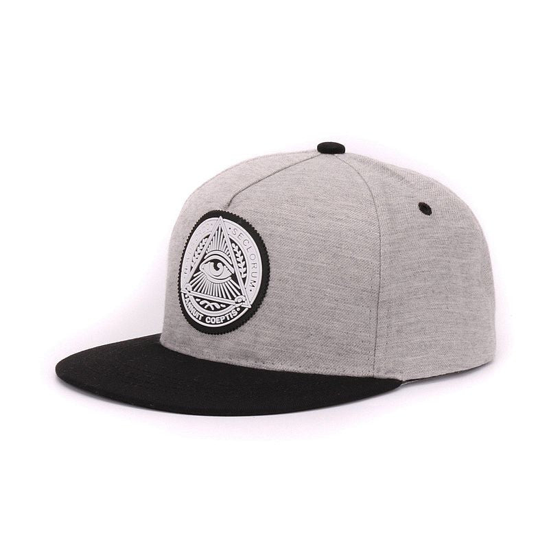 Classic  5 panels cotton snapback 3d god eyes plastic patch mens