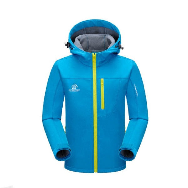 Children Winter Softshell Hiking Jackets Kids Girls Boys Waterproof