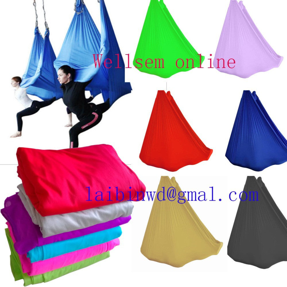 Customized Length  Aerial  Flying Yoga Hammock frabic Swing Trapeze