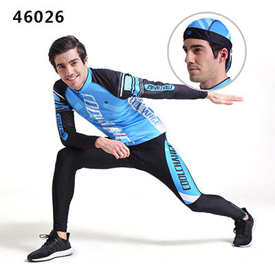 CoolChange Cycling Clothing Long sleeve  Cycling Jersey Set Mountain