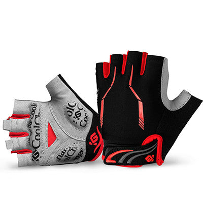CoolChange Half Finger Cycling Gloves Mens Women's Summer Sports