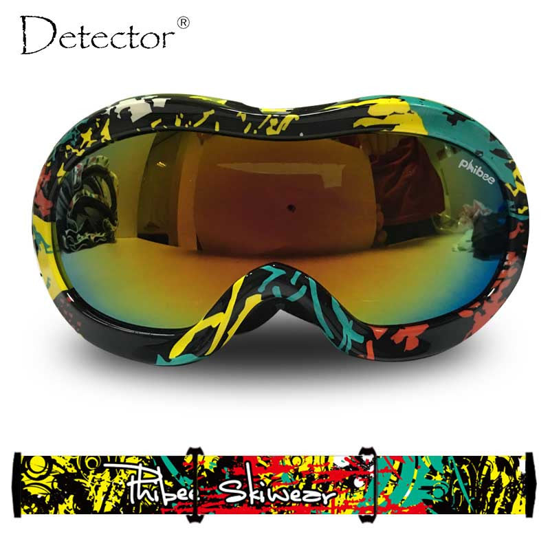 Detector 2016 Kids Double Anti-Fog UV400 Protection Ski Goggles Boys