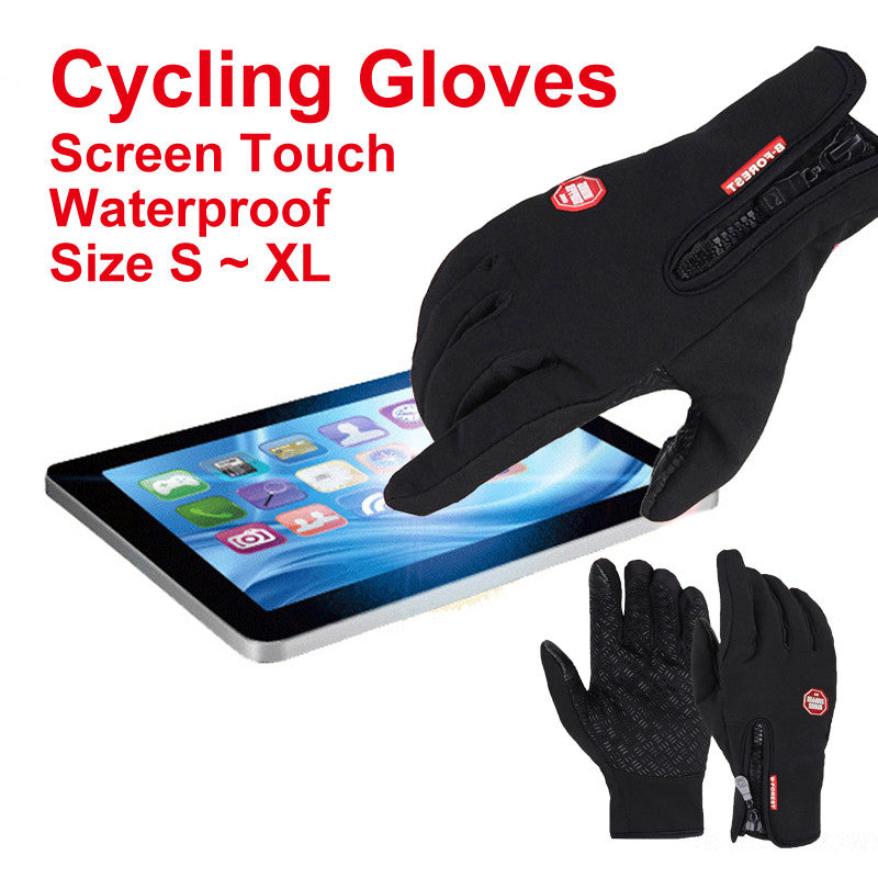 Bicycle Motorcycle Gloves Outdoor Sport Warm Windproof Thermal Touch