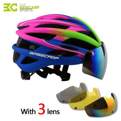 BASECAMP New Bicycle Helmets Sunglasses Cycling Glasses 3 Lens