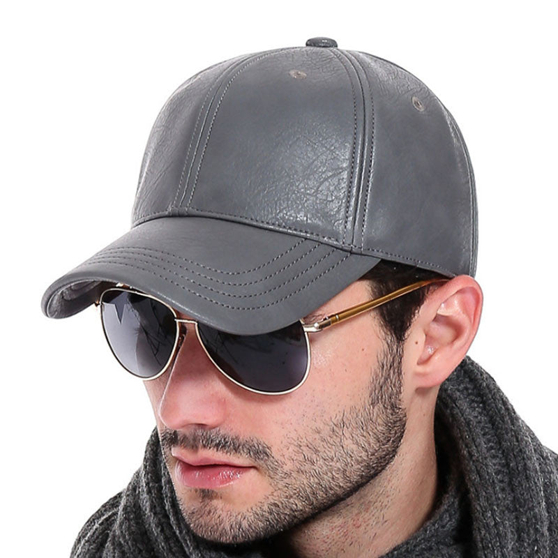 [AETRENDS] 2016 New PU Leather Baseball Cap Men Outdoor Sports Hat