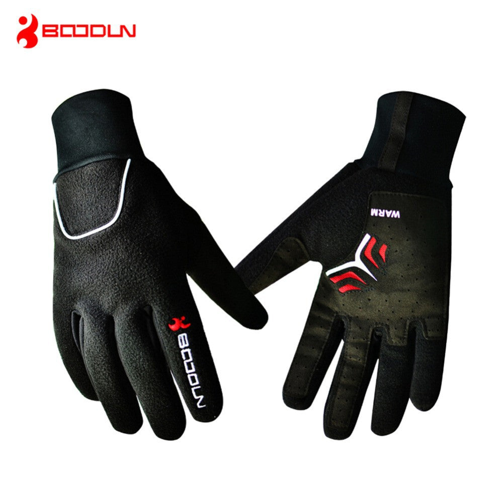 BOODUN Waterproof Windproof Fleece Gloves Winter Bicycle Thermal