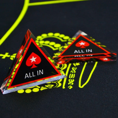 Baccarat Texas Holdem Poker All In Button Triangle Acrylic All In